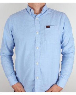 Marshall Artist Long Sleeve Oxford Shirt Sky Blue