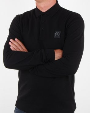 Marshall Artist Long Sleeve Polo Shirt Black