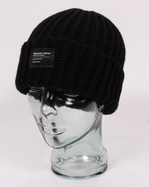 Marshall Artist Made In England Wool Beanie Black