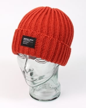 Marshall Artist Made In England Wool Beanie Burnt Orange