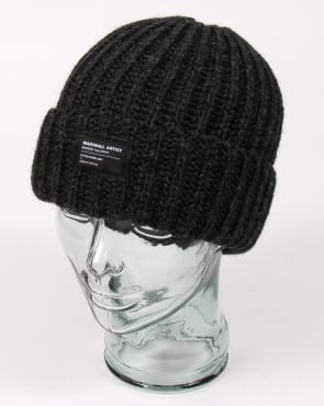 Marshall Artist Made In England Wool Beanie Charcoal Grey