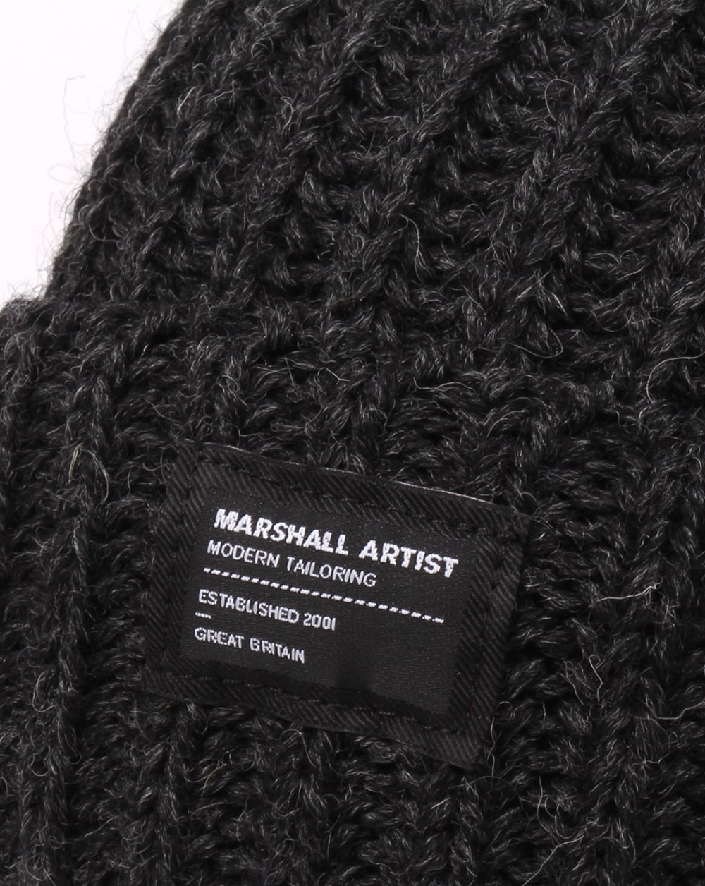 Marshall Artist Made In England Wool Beanie Charcoal Grey b95709fdf78