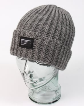 Marshall Artist Made In England Wool Beanie Steel Grey