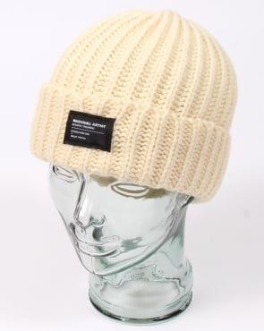 Marshall Artist Made In England Wool Beanie Winter White