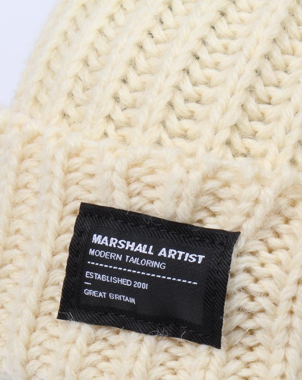 03eadb650fc Marshall Artist Made In England Wool Beanie Winter White