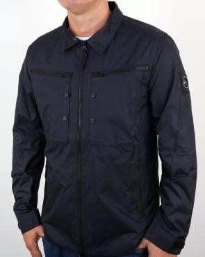 Marshall Artist Micro Ripstop Overshirt Navy