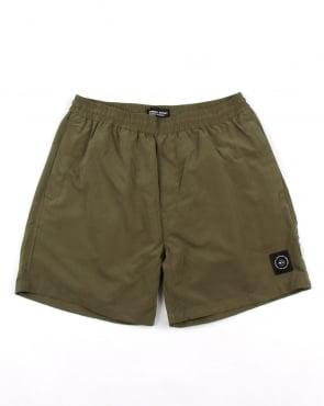 Marshall Artist Micro Siren Swim Shorts Khaki Green