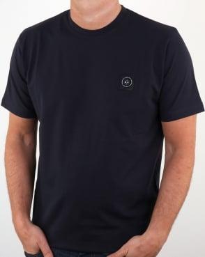 Marshall Artist Micro Siren T Shirt Navy
