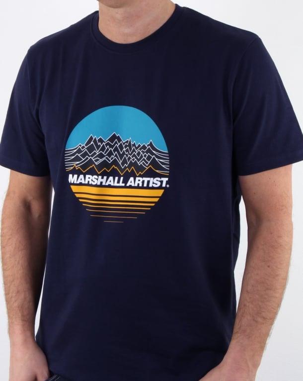 Marshall Artist Mountain Trek T Shirt Navy