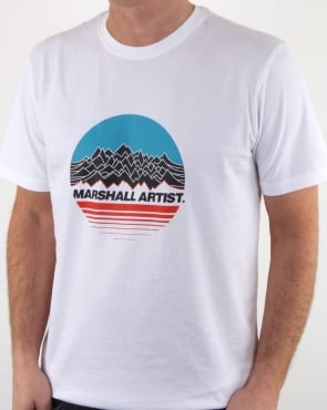 Marshall Artist Mountain Trek T Shirt White