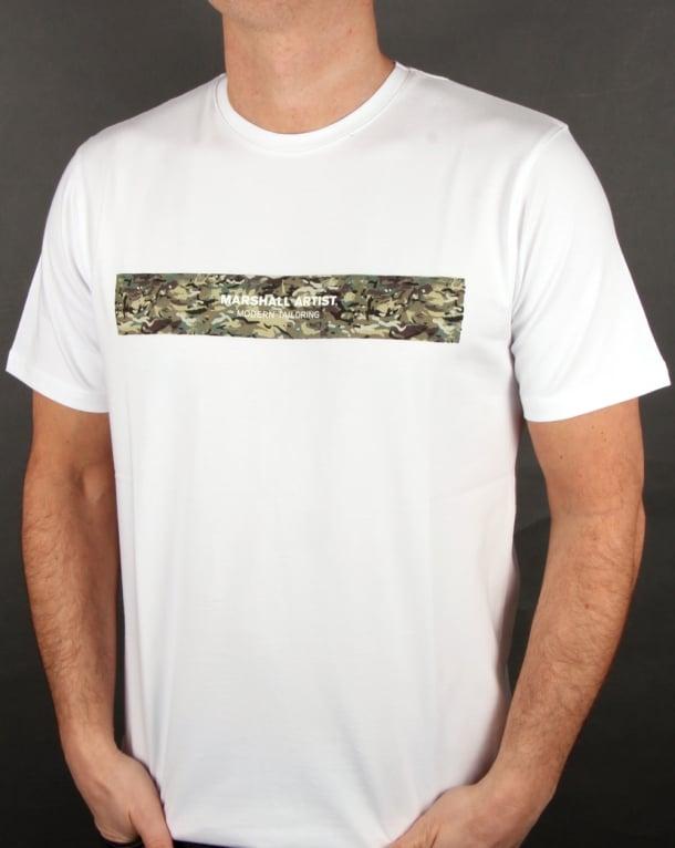 Marshall Artist Mtc Fiore Graphic T Shirt White