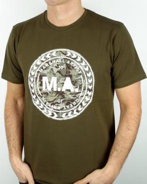 Marshall Artist Mtc Siren Graphic T Shirt Khaki