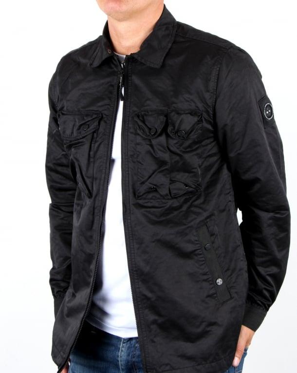 Marshall Artist Pigment Dyed Overshirt Black