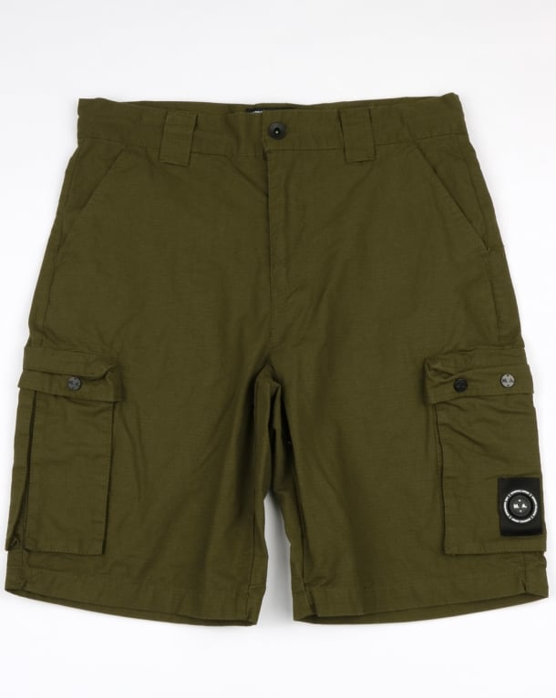 Marshall Artist Ripstop Combat Cargo Shorts Khaki