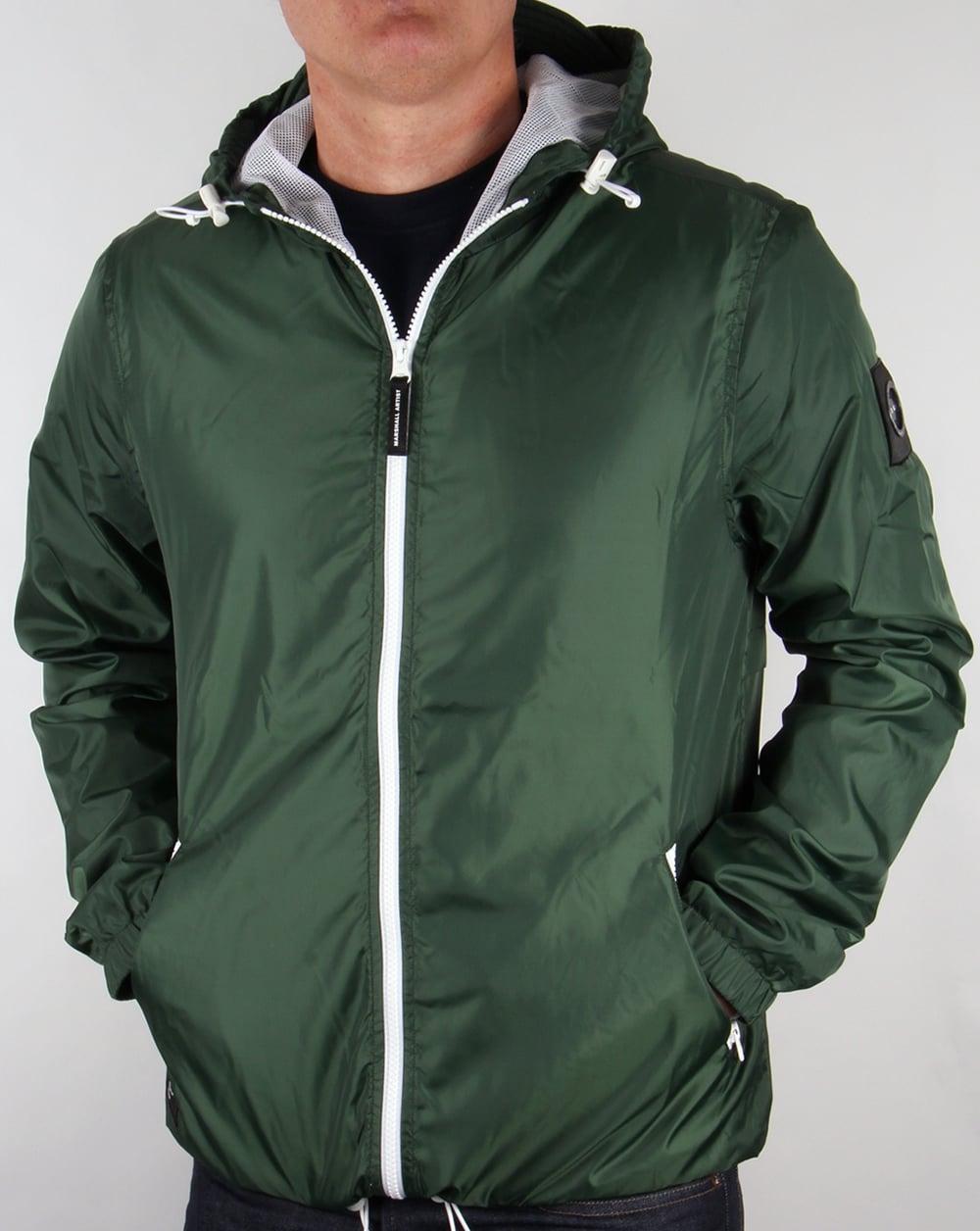0e213c4e09fd Marshall Artist Ripstop Light Shell Jacket Awaydays Green