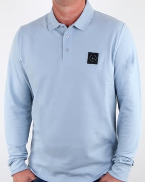 Marshall Artist Siren Long Sleeve Polo Shirt Sky
