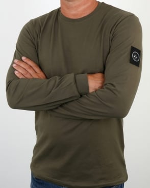 Marshall Artist Siren Long Sleeve T Shirt Khaki