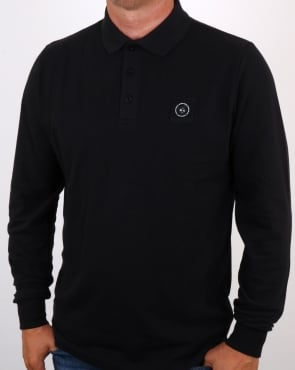 Marshall Artist Siren Ls Polo Shirt Black