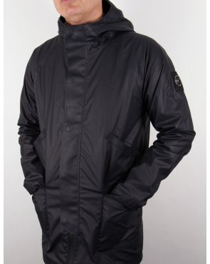 Marshall Artist Technical Hooded Mac Navy Blue
