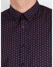 Merc Foxton Shirt Navy Blue