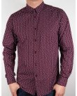 Merc Foxton Shirt Wine