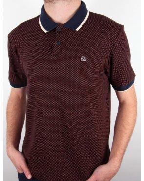 Merc Huxley Polo Shirt Rust
