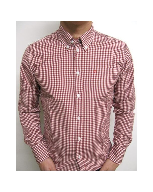 Merc Japster L/s Gingham Shirt Red