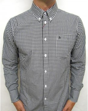 Merc Japster L/s Gingham Shirt Royal Blue