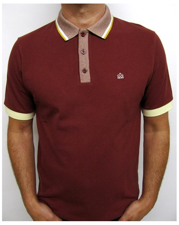 Merc Norwich Polo Shirt Rust