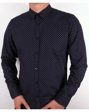 Merc Polka Dot Shirt Navy