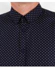 Merc Polka Dot Shirt Navy