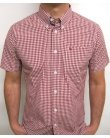 Merc Terry S/s Gingham Shirt Red