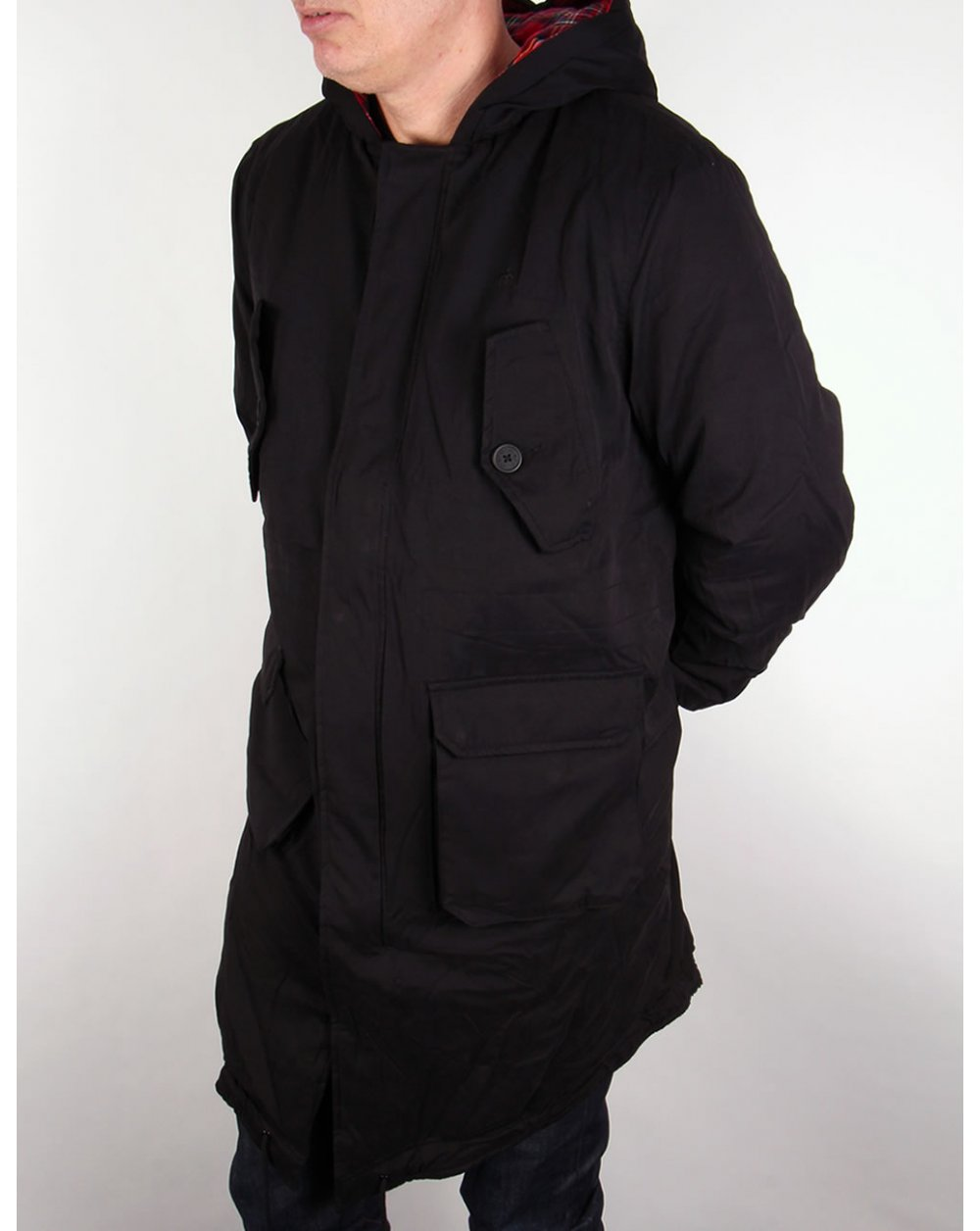 Merc Tobias Parka Black,hooded,jacket,coat,mens,mod
