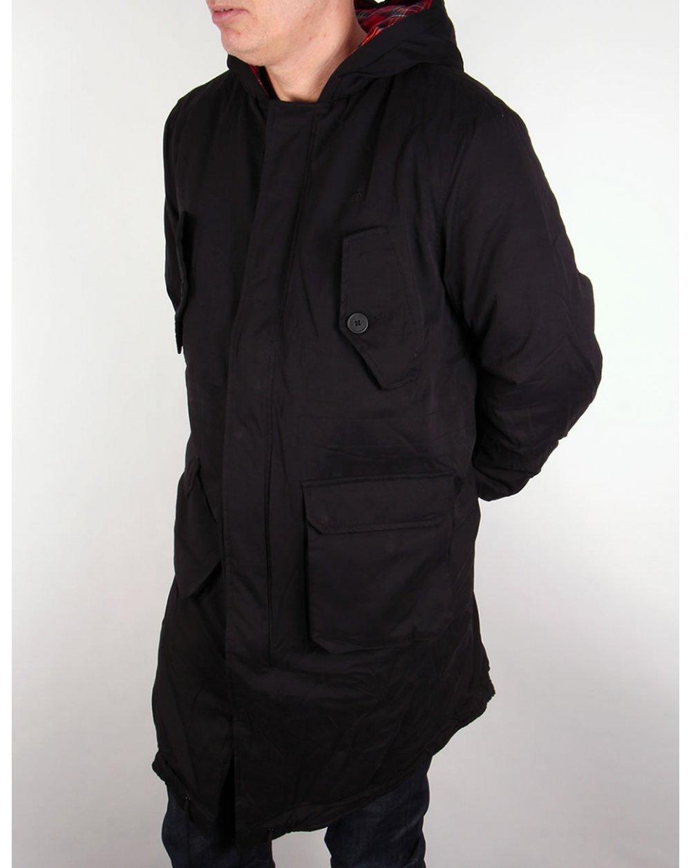 Merc Tobias Parka Black,hooded,jacket,coat,mens,mod