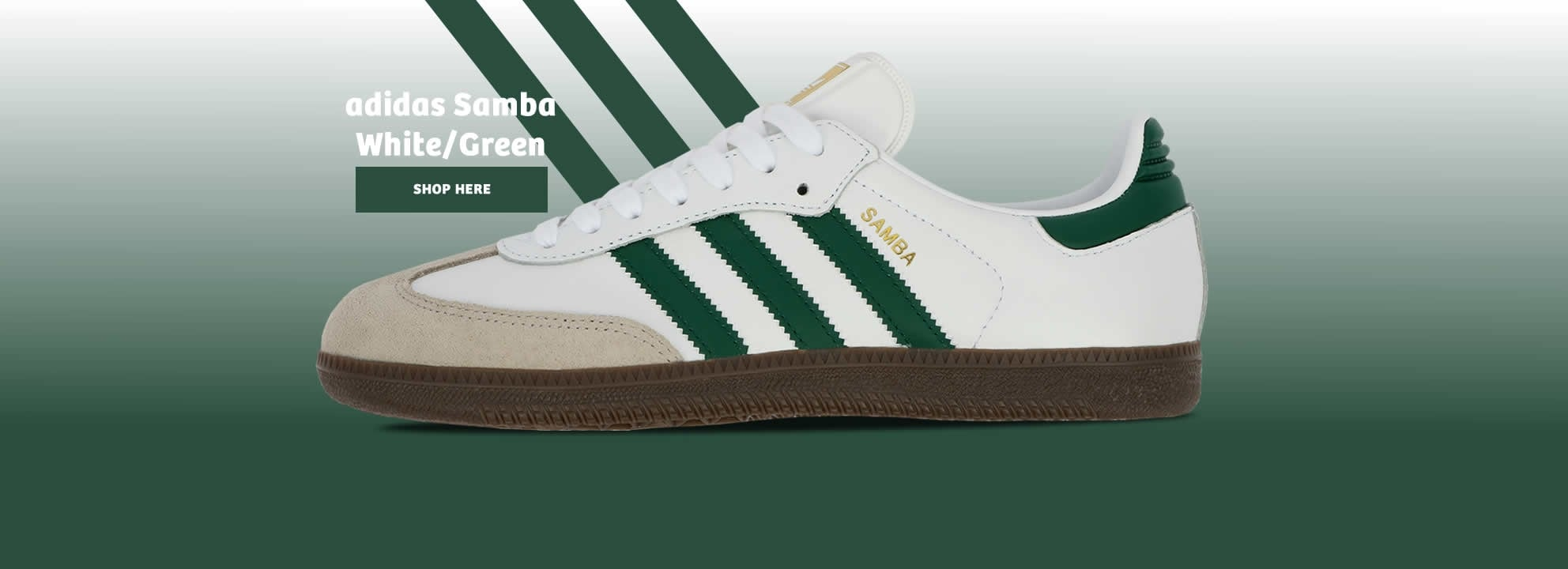 Samba Leather White and Green