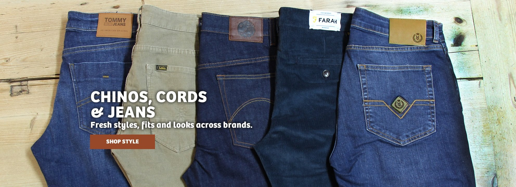 Chinos, Cords & Jeans