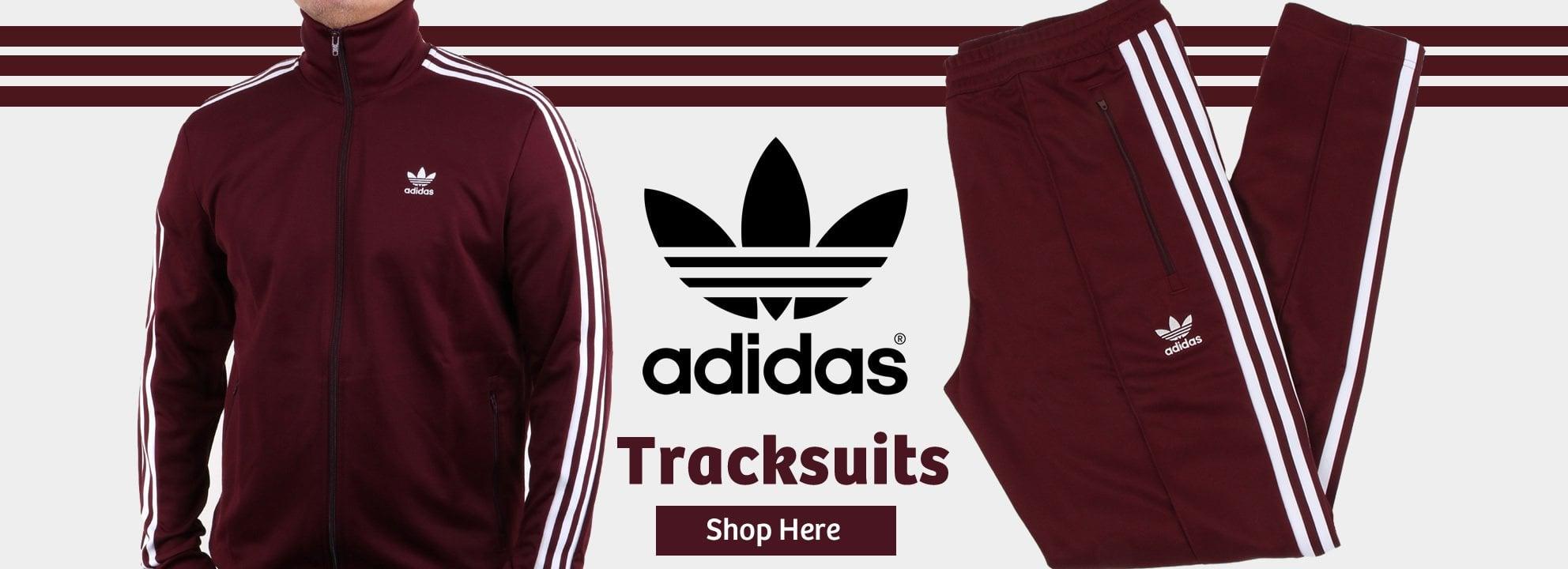 Adidas Beckenbauer Maroon Tracksuit