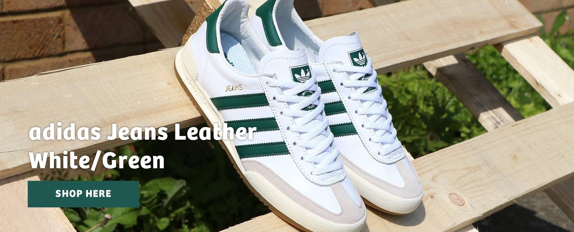 Adidas Jeans Leather White & Green