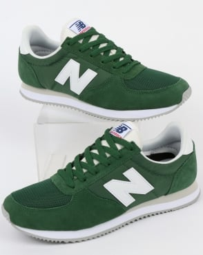 New Balance 220 Trainers Forest Green/White