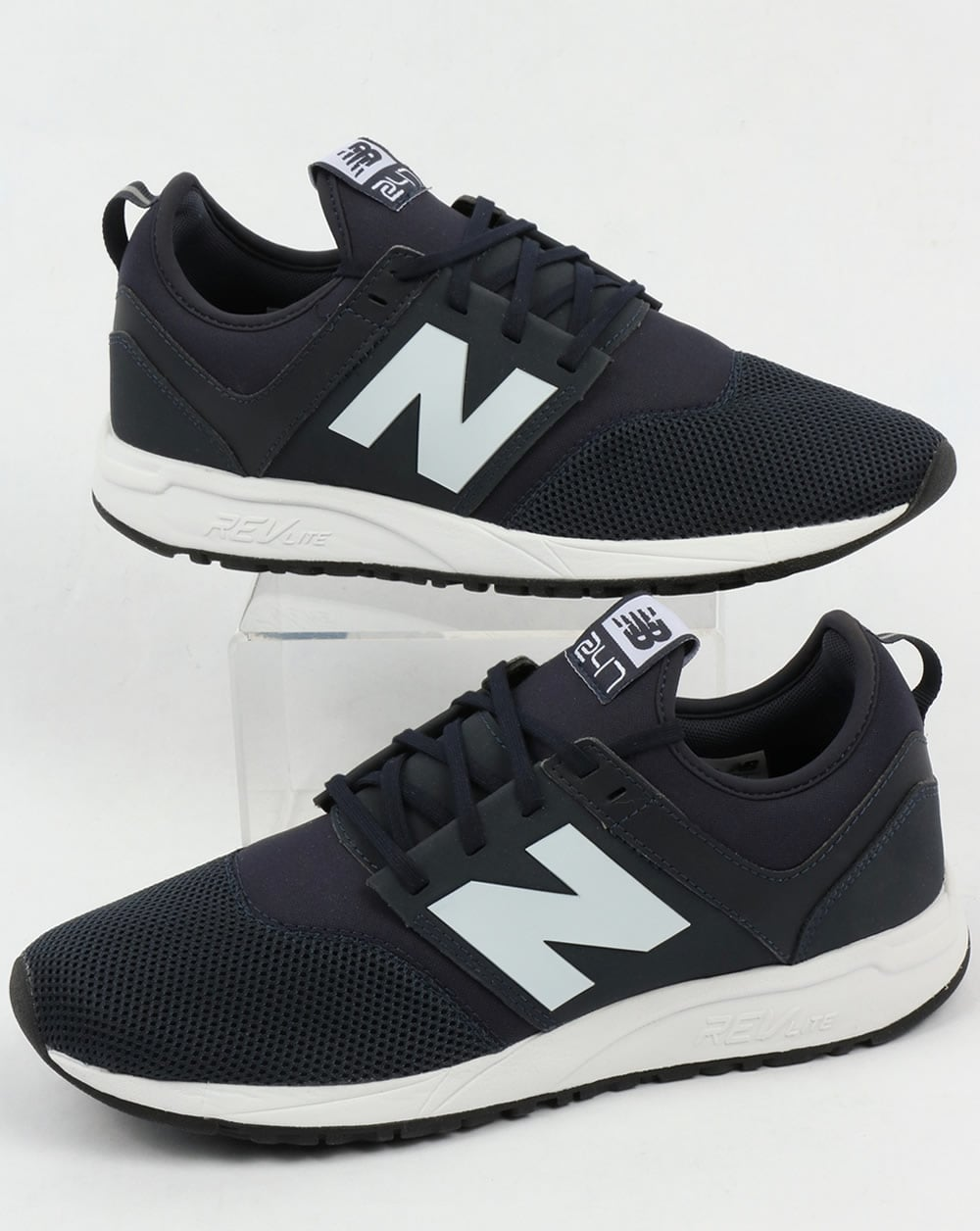 new balance 247 classic trainers navy shoes runner sneakers. Black Bedroom Furniture Sets. Home Design Ideas