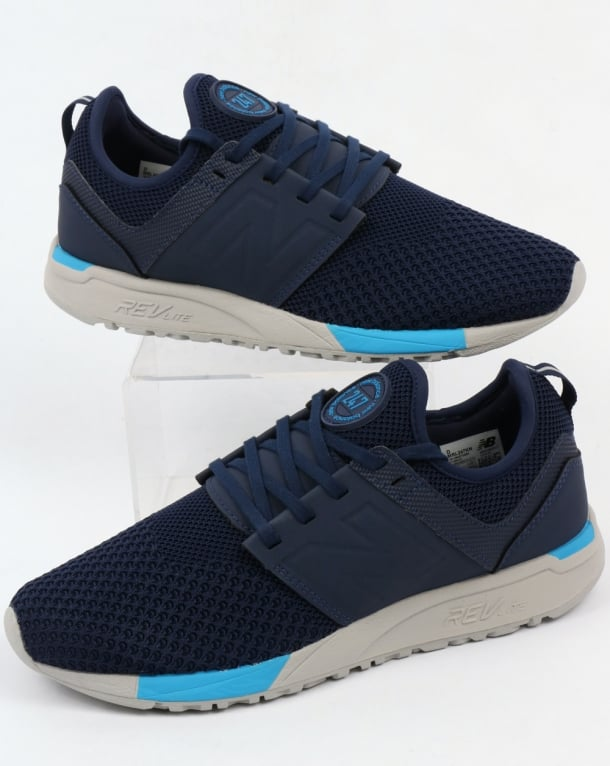 navy blue new balance trainers
