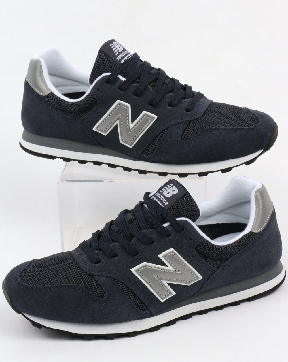 the latest 560e1 4277b New Balance 373 Modern Classics Trainers Navy/Silver