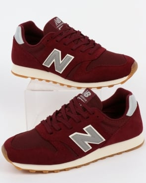 New Balance 373 Trainers Burgundy/Grey