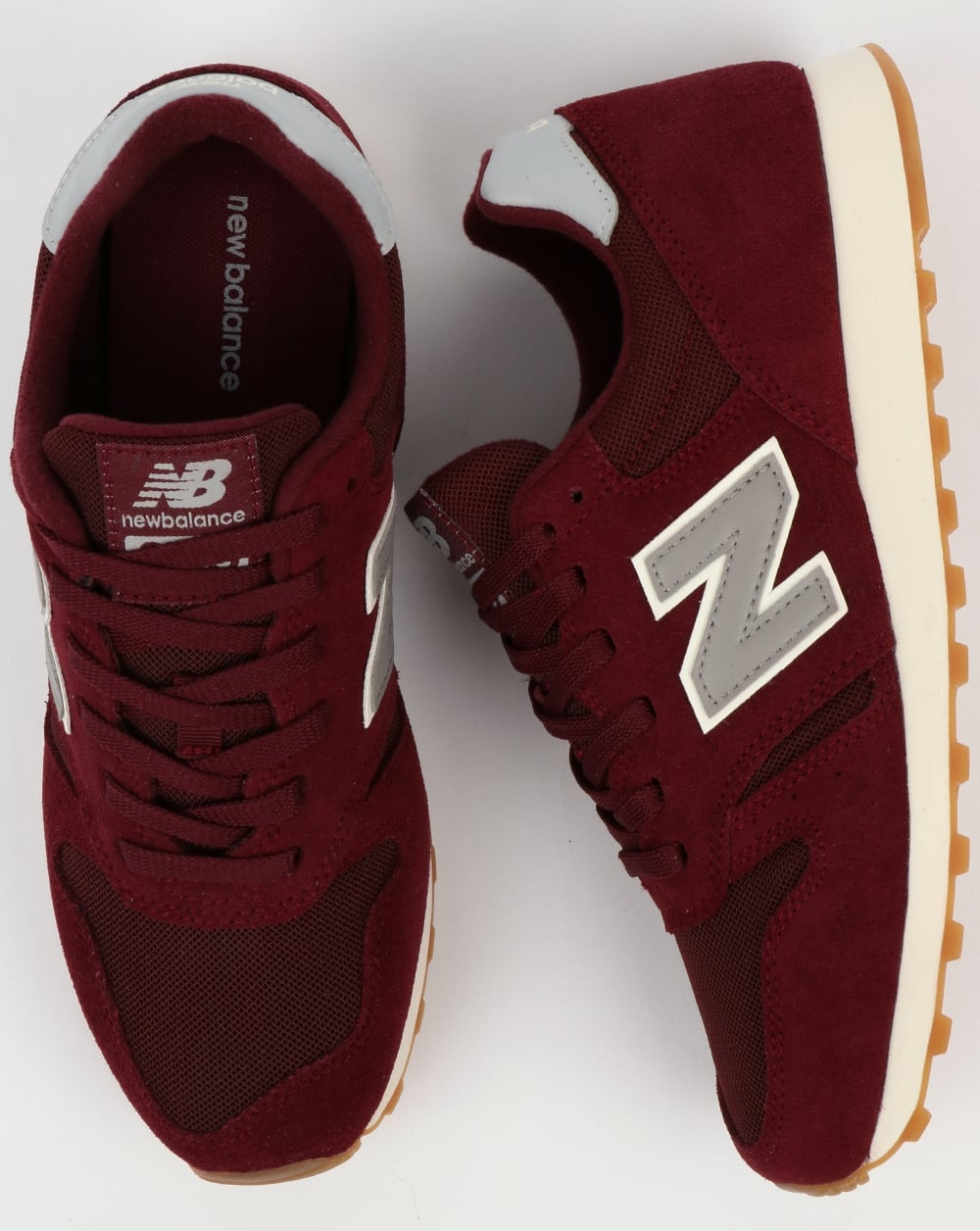 new style c7434 299a3 New Balance 373 Trainers Burgundy/Grey