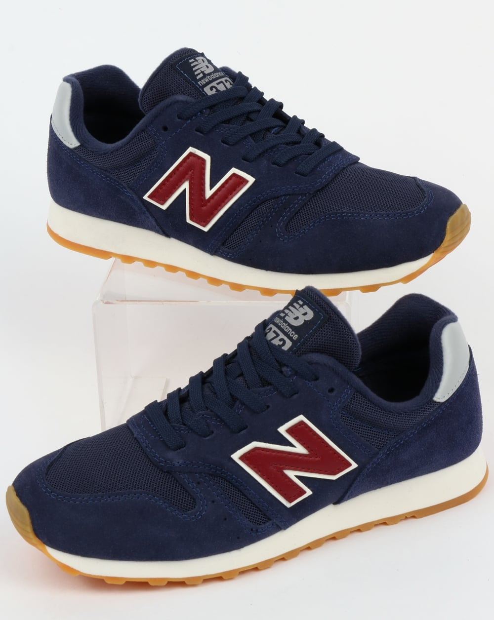 New Balance 373 Mens Trainers in Navy Red