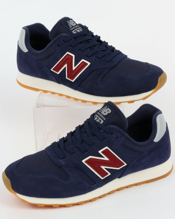 New Balance 373 Trainers Navy/Red