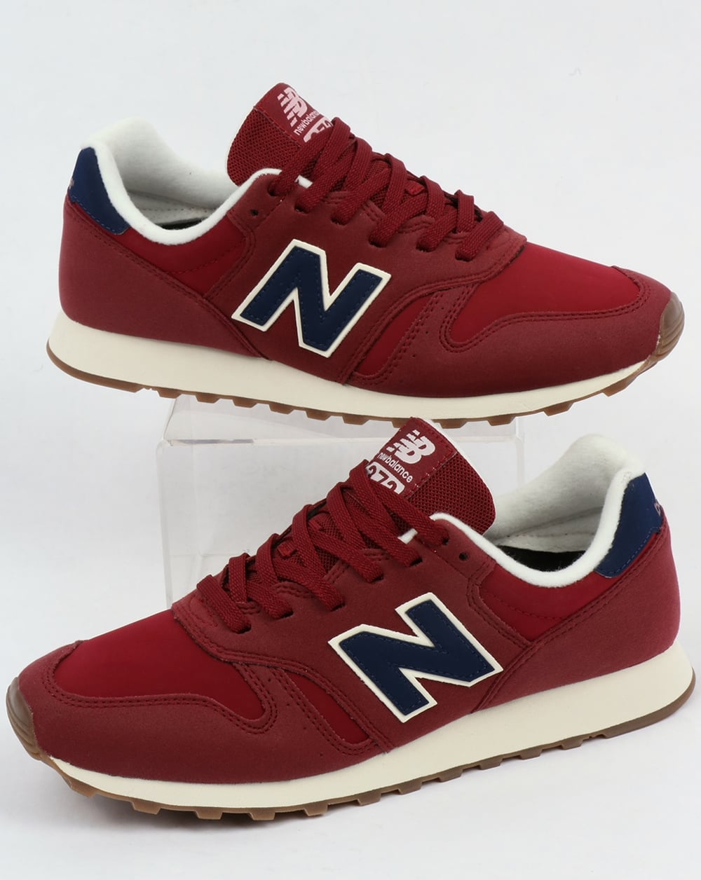new balance 373 trainers red blue shoes running 70s. Black Bedroom Furniture Sets. Home Design Ideas
