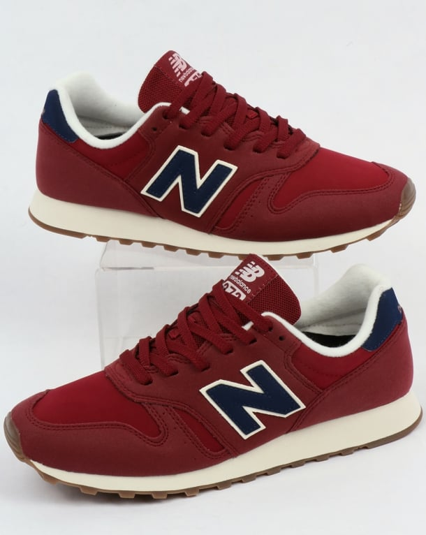 new balance 373 grey red blue