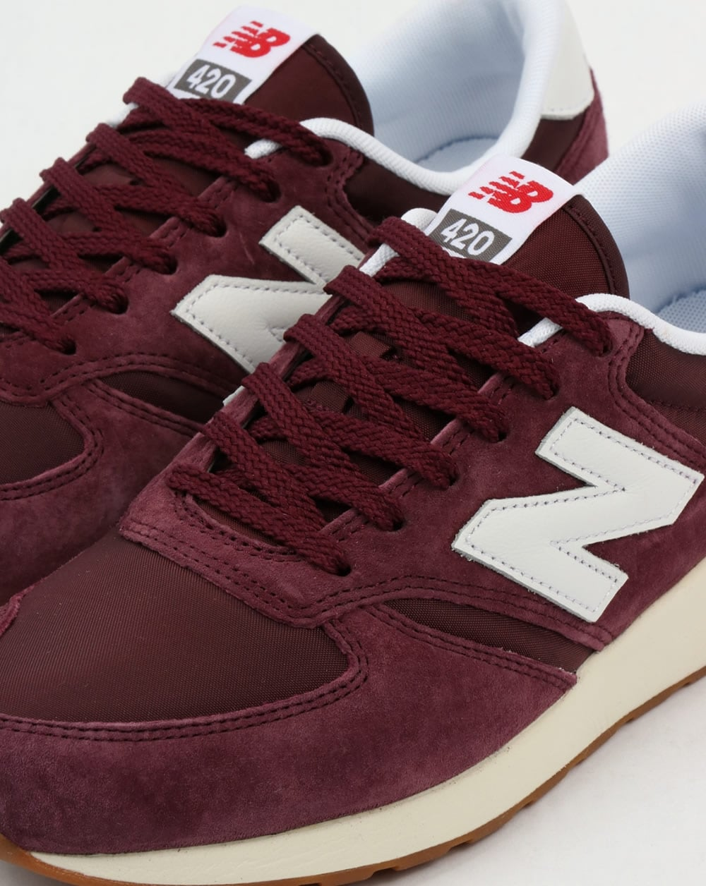 new balance 420 re engineered suede trainers burgundy. Black Bedroom Furniture Sets. Home Design Ideas