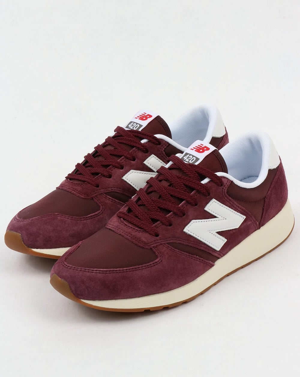 new balance 420 trainers maroon